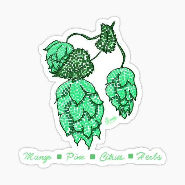 Mosaic Hops Sticker