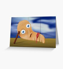 SURREALISM - The Melting Face Greeting Card
