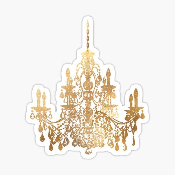 Crystal Chandelier in Faux Gold Sticker