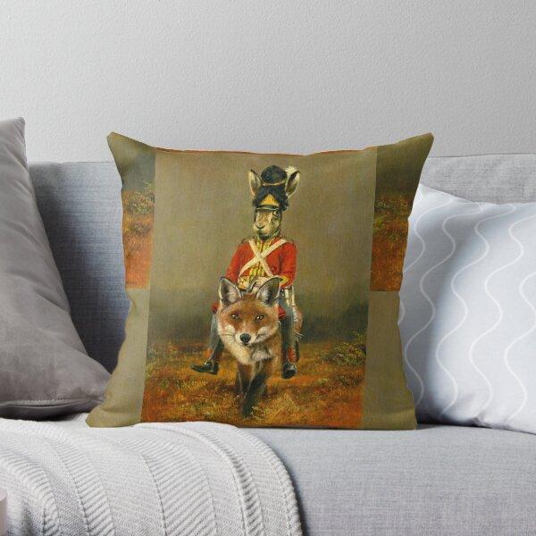 Hasen- und Fuchs-Kavallerie Dekokissen