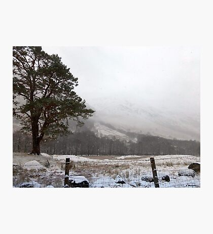 Snow Scene on Glencoe, Scotland #1 Photographic Print