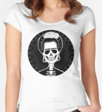 Frida (Stack's Skull Sunday) Women's Fitted Scoop T-Shirt