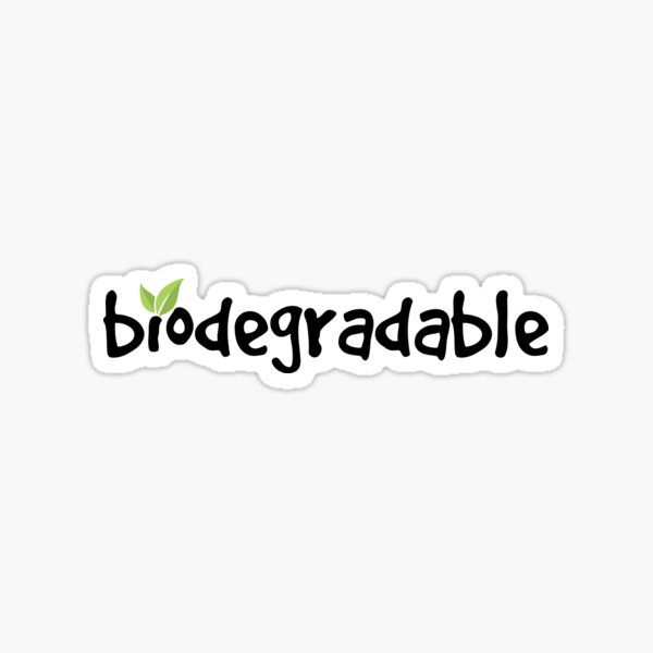 biodegradable Sticker