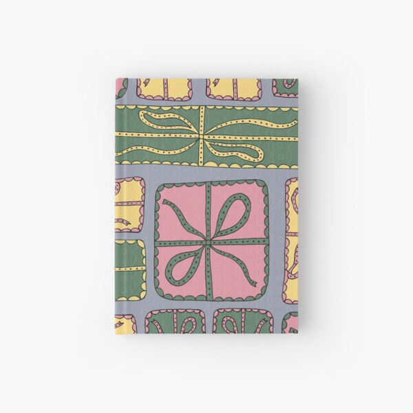 Pink, Green, and Yellow Gift Boxes with Bows Hardcover Journal