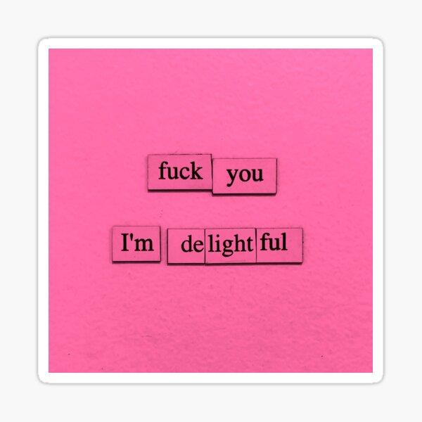I'm Delightful Sticker