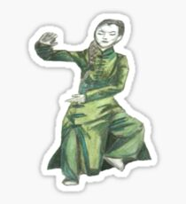 Martial Arts Lady 2 Sticker