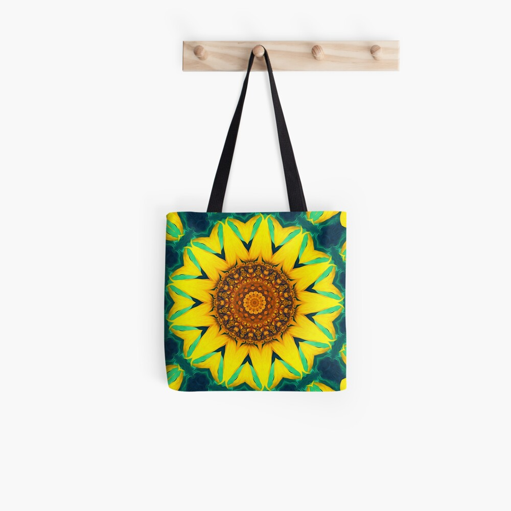 Fun Sunflower Abstract Tote Bag