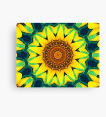 Fun Sunflower Abstract Canvas Print