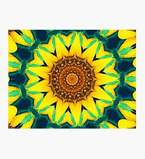 Fun Sunflower Abstract Photographic Print