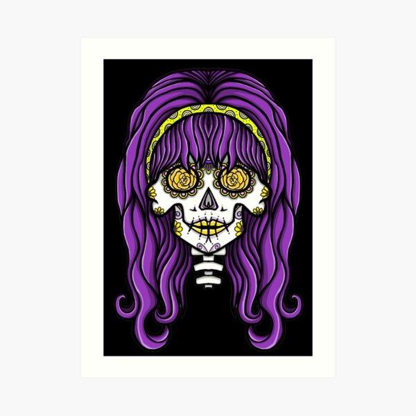 Alternative Hippy Skull Art Print