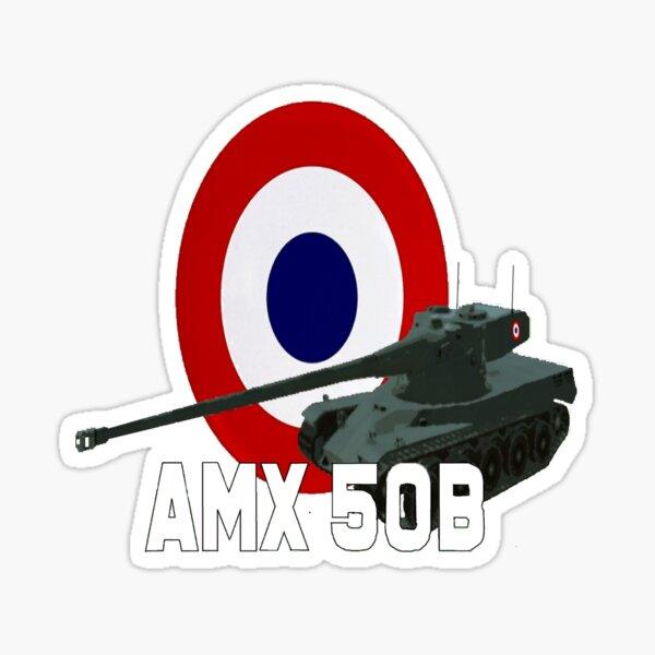 French AMX 50B  Heavy Tank Sticker