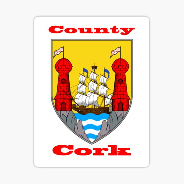 County Cork Coat of Arms Sticker