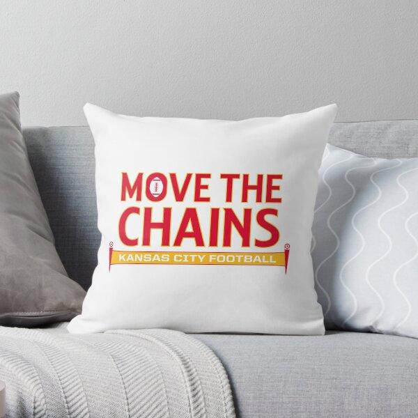 Move The Chains - Kansas City (White) Throw Pillow