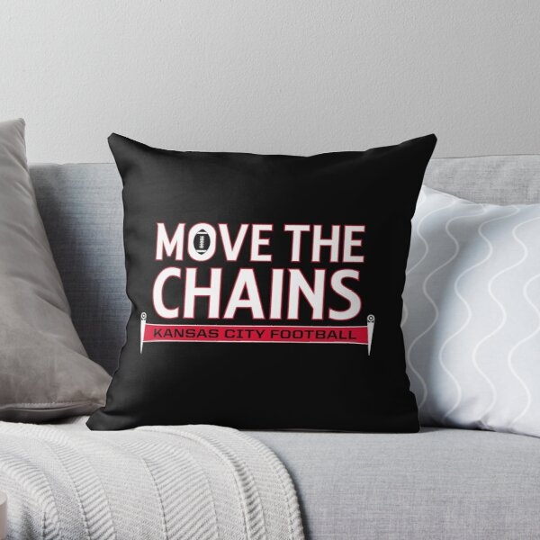 Move The Chains - Kansas City (Black) Throw Pillow