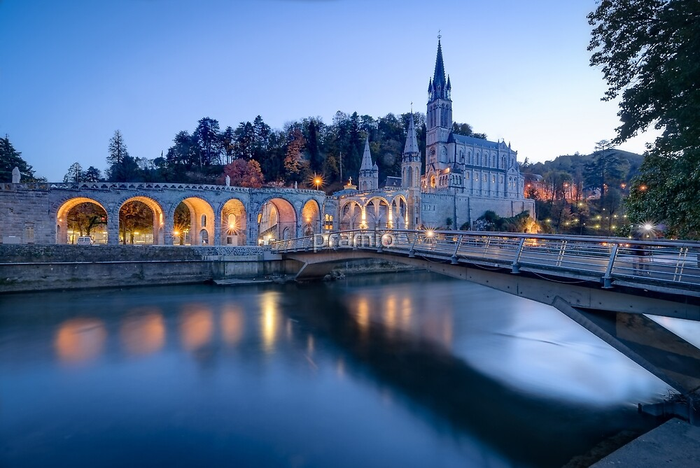Sanctuary of Our Lady of Lourdes at Blue Hour by pramio