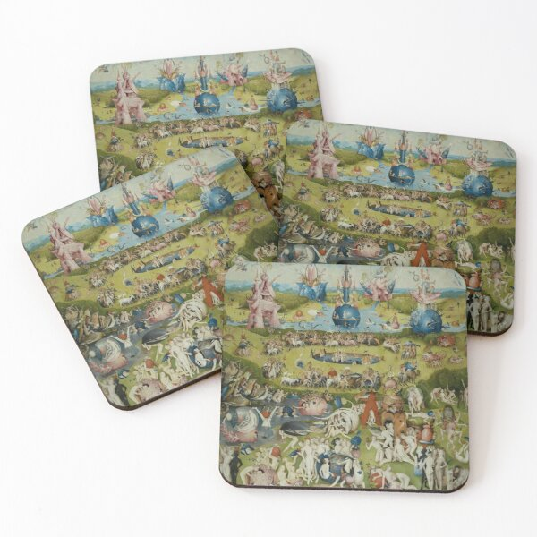 the garden of earthly delights Hieronymus Bosch Coasters (Set of 4)