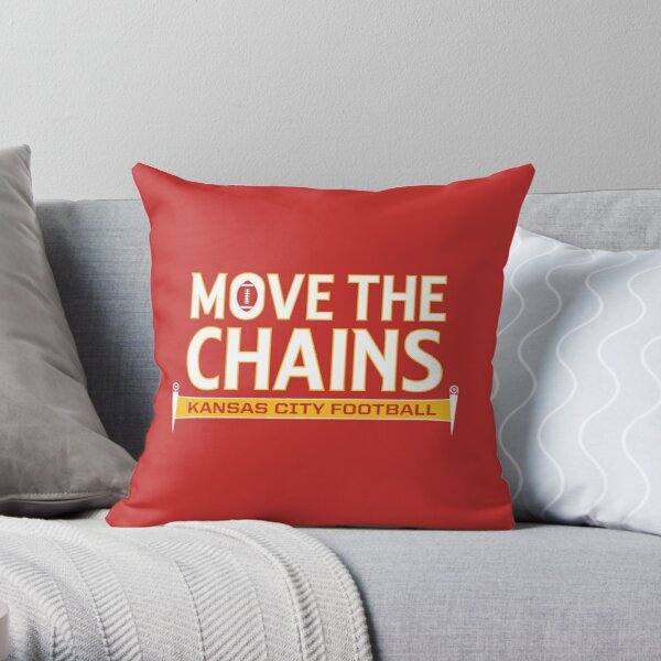 Move The Chains - Kansas City (Red) Throw Pillow