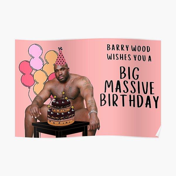 Alles Gute zum Geburtstag von Barry Wood Poster