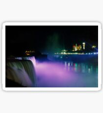 Niagara Falls at Night Sticker