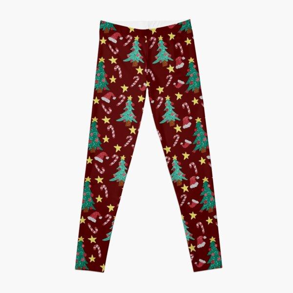 Merry Christmas Trees Pattern Leggings
