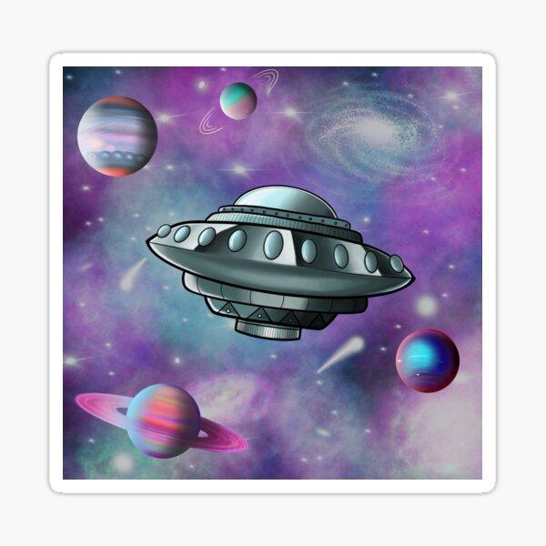 Saucer Nebula Sticker