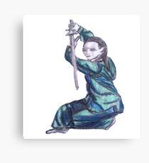 Martial Arts Lady 3 Canvas Print