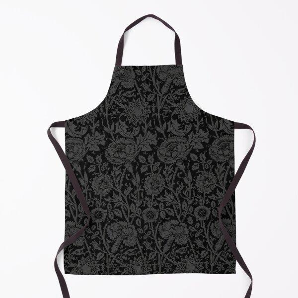 William Morris Carnations | Black and Grey Floral Pattern | Flower Patterns | Vintage Patterns | Classic Patterns | Apron