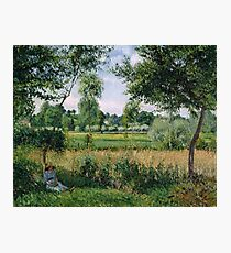 Camille Pissarro - Morning Sunlight Effect, Eragny 1899  French Impressionism Landscape Photographic Print