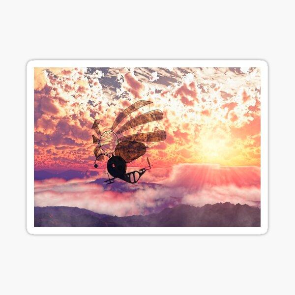 Fairy air windcatcher over the clouds Sticker