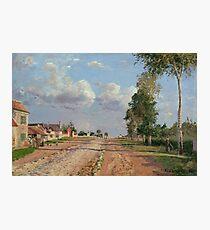 Camille Pissarro - Route de Versailles, Rocquencourt 1871 French Impressionism Landscape Photographic Print