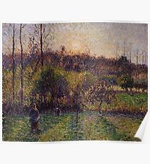 Camille Pissarro - Soleil levant a Eragny 1894 French Impressionism Landscape Poster