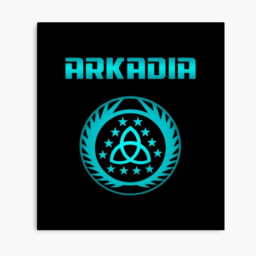 Arkadia Logo Leinwanddruck
