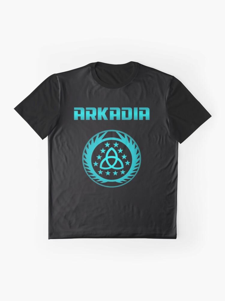 Alternative Ansicht von Arkadia Logo Grafik T-Shirt
