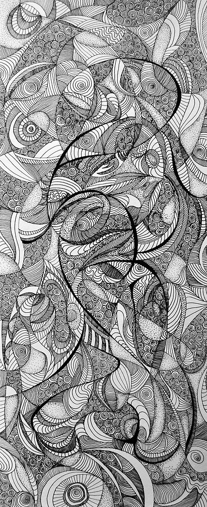 In the Twirling of Imagination, 2015, 20-50cm, ink on paper by oanaunciuleanu