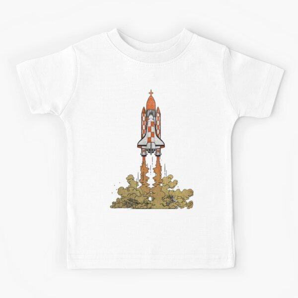 La NASA y Tintín en una misión a la Luna Camiseta para niños