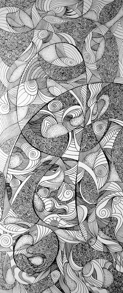 Infinite reality, 2015, 20-50cm, ink on paper by oanaunciuleanu