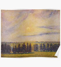 Camille Pissarro - Sunset at Eragny 1890 French Impressionism Landscape Poster