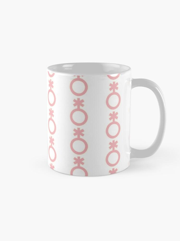 Alternate view of genderqueer / nonbinary symbol Mug