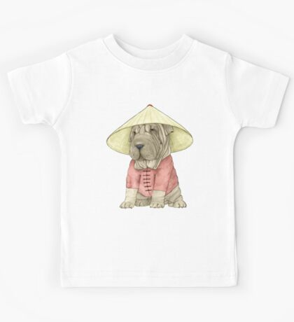 Shar Pei on The Great Wall Kids Clothes
