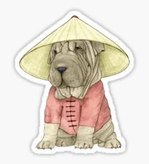 Shar Pei on The Great Wall Sticker