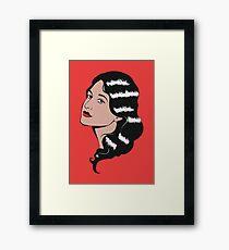 Girl in Pop Art style Framed Print
