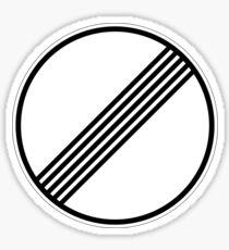 keine Geschwindigkeitsbegrenzung Sticker