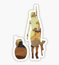 STAR WARS VII- BB8 and Rey Sticker