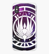 Battlestar Galactica Colonial Seal Purple iPhone Case/Skin