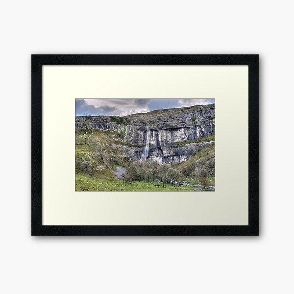 Malham Cove Waterfall 2 Framed Art Print