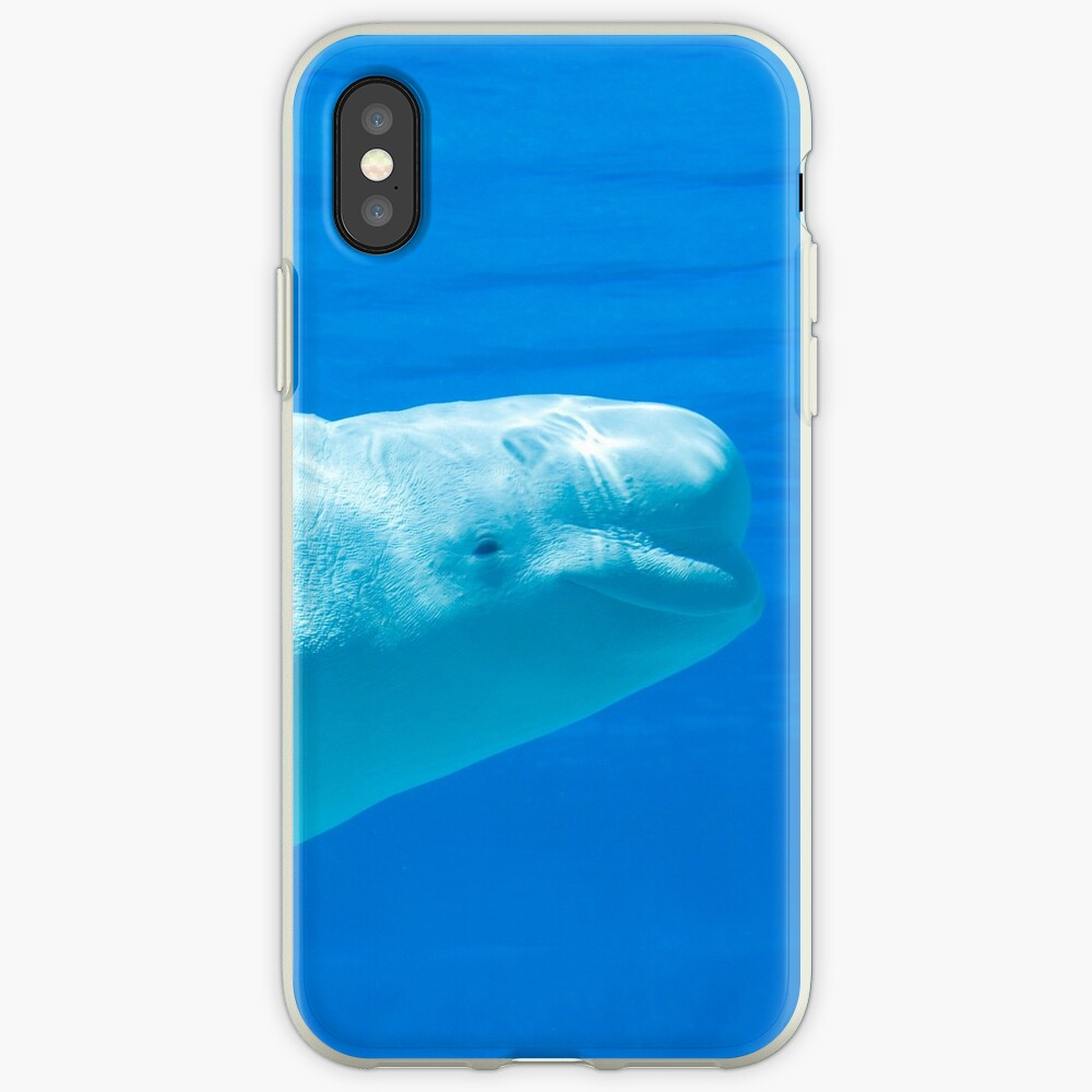 Smiling beluga whale iPhone Case & Cover