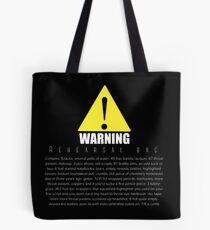 WARNUNG Probesack Tasche