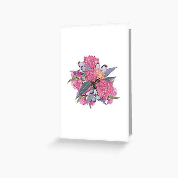 Protea & Eucalyptus - Romantic Florals Greeting Card
