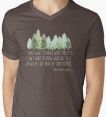 Into the Wild with Christopher McCandless Men's V-Neck T-Shirt