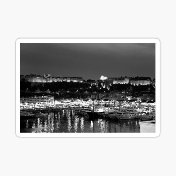 Monaco palace and bay Sticker